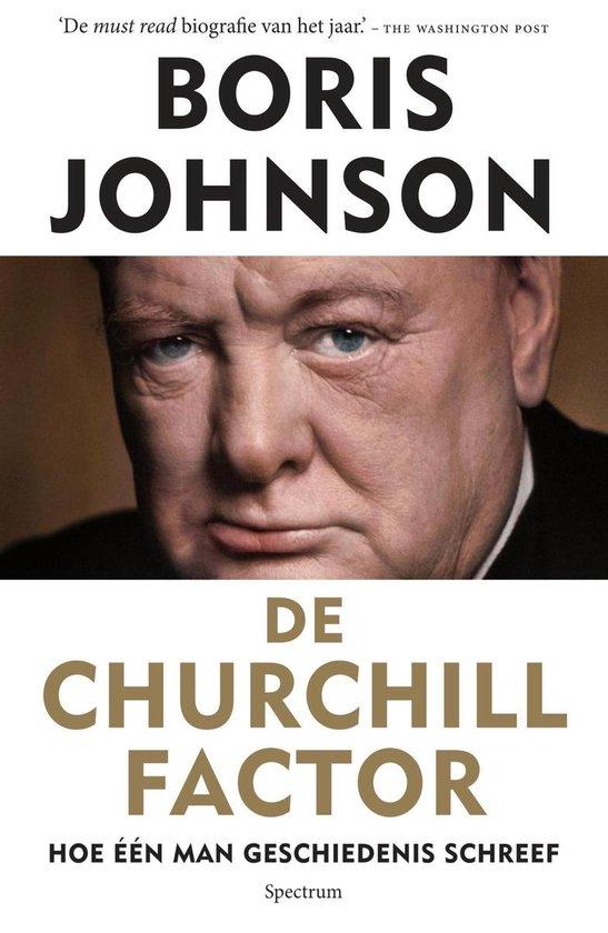 Boek cover De churchill factor van Boris Johnson (Onbekend)