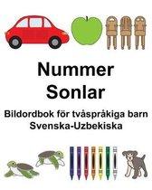 Svenska-Uzbekiska Nummer/Sonlar Bildordbok foer tvasprakiga barn