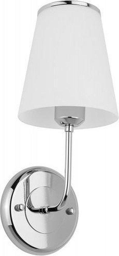 Van Heck wandlamp 12x35cm met LED verlichting 4 watt chroom