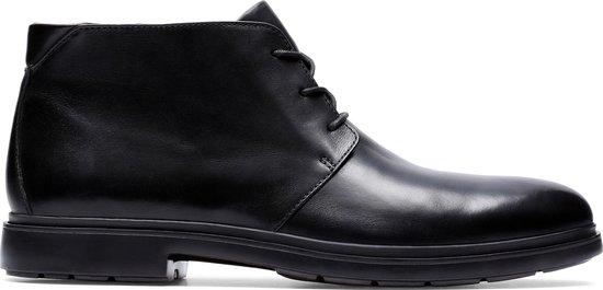 Clarks - Herenschoenen - Un Tailor Mid - G - black leather - maat 10