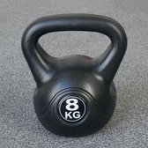 Kettlebell 8 kg voor binnen en buiten Kunststof Zwart