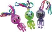 Set van 4x stuks ketting met lichtgevend aliens poppetje - Kinder verjaardag uitdeel speelgoed