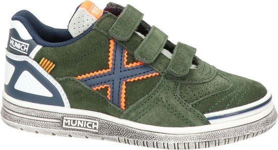 Bol Com Munich Jongens Klittenband Sneaker Kaki Maat 31