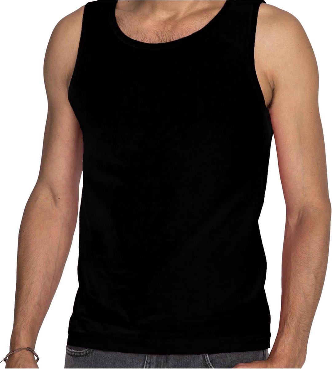 Zwarte tanktop / hemdje voor heren - Fruit of The Loom - katoen - mouwloos t-shirt / tanktops / sing
