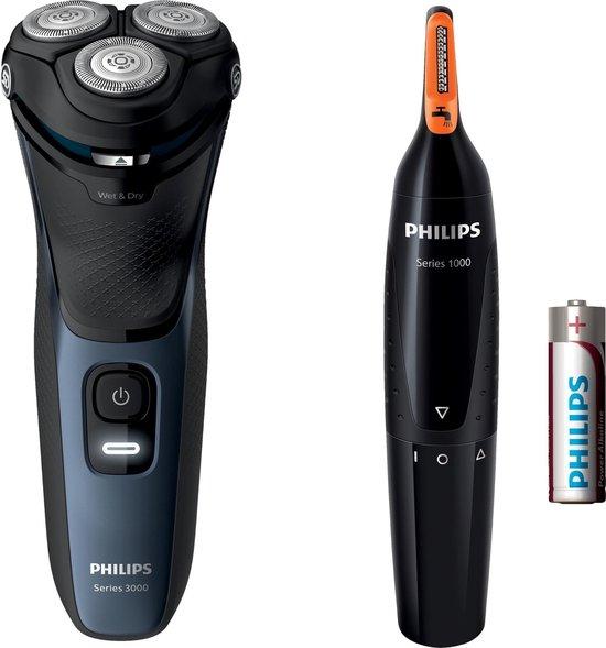 Philips Shaver Series 3000 S3134/57 - Scheerapparaat incl. neus- en oorhaartrimmer