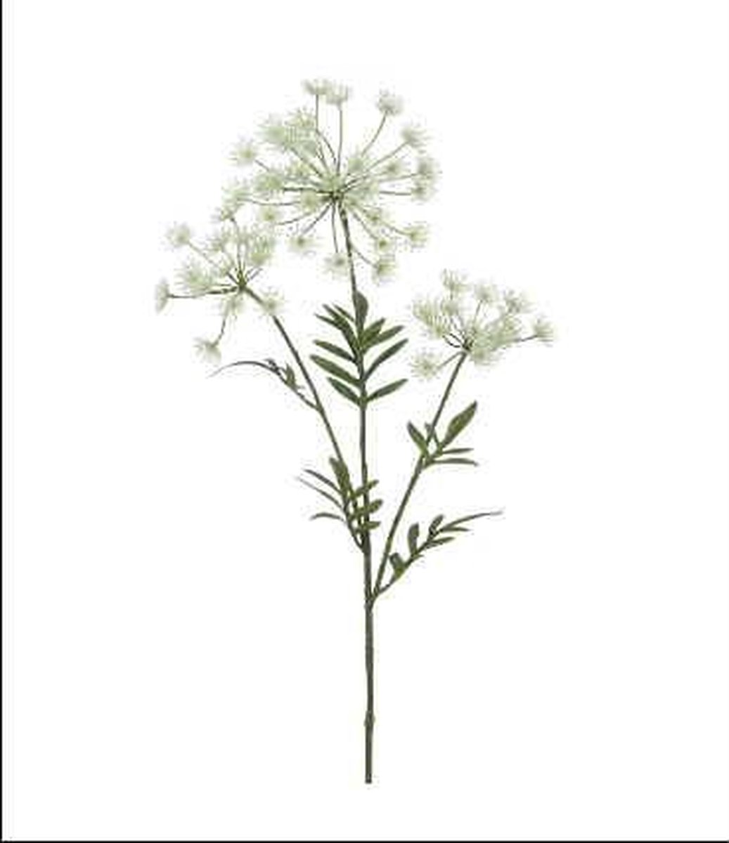 Kunstbloem - Zijde - Wildwortel - Wit - 80 cm - Boeket van 5 stuks - In cadeauverpakking met gekleurd lint kopen