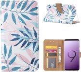 FONU Bookcase Hoesje Lange Bladeren Samsung Galaxy S9