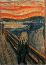 De Schreeuw, Edvard Munch - Foto op Forex - 120 x 160 cm