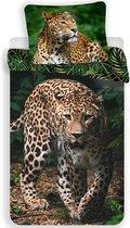 Animal Pictures Dekbedovertrek Luipaard - Eenpersoons - 140  x 200 cm - Groen