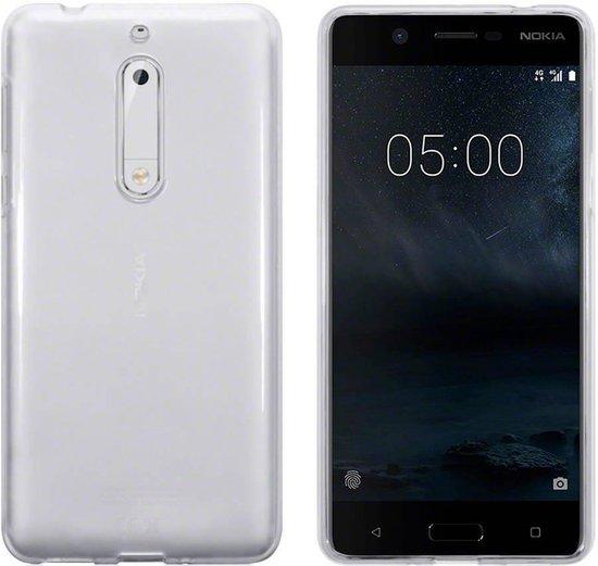 Hoesje CoolSkin3T TPU Case voor de Nokia 5 in Transparant Wit