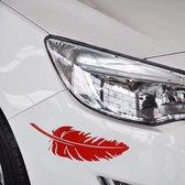 10 STKS embleem veer auto stickers waterdichte kunststof sticker sticker (rood)