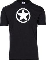 Fostex T-shirt zwart met witte ster US Army