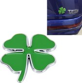 Klavertje vier kruid geluk symbool badge embleem etikettering sticker styling auto dashboard decoratie, grootte: 7,5 * 6cm