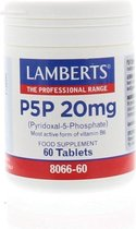 Lamberts Vitamine B6 (P5P) 20 mg 60 tabletten