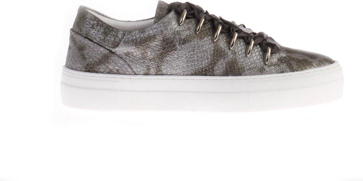Grijze HIP D1278 Python Sneakers