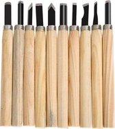 Houtbewerking beitels - Houtbeitels set van 10 stuks houtsnijden wood carving / HaverCo
