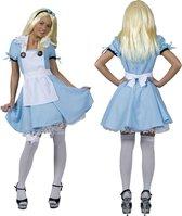 Alice In Wonderland Kostuum | Alicia Uit De Toverwereld | Vrouw | Maat 44-46 | Carnaval kostuum | Verkleedkleding