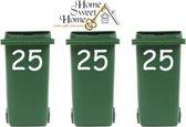 Voordeelset : 3 x sticker huisnummer voor kliko container   Rosami