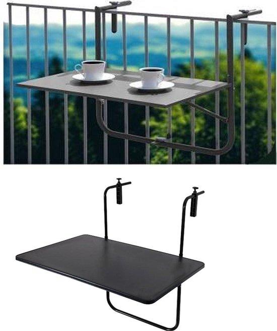 Ambiance Balkontafel - 60x40cm - Mat zwart