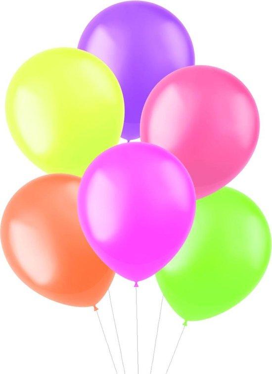 Gekleurde Ballonnen Neon 33cm 10st