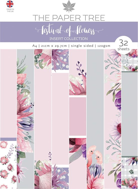 Afbeelding van The Paper Tree - A Festival Of Flowers A4 Insert Collection speelgoed