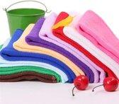 5 Stuks - Poetsdoeken - Microfiber auto poetsdoek - Schoonmaak doek - Microvezel - Stofdoek - Autodoek - Krasvrij - 20x20cm - Schoonmaakdoeken - Droogdoek - Willekeurige kleur