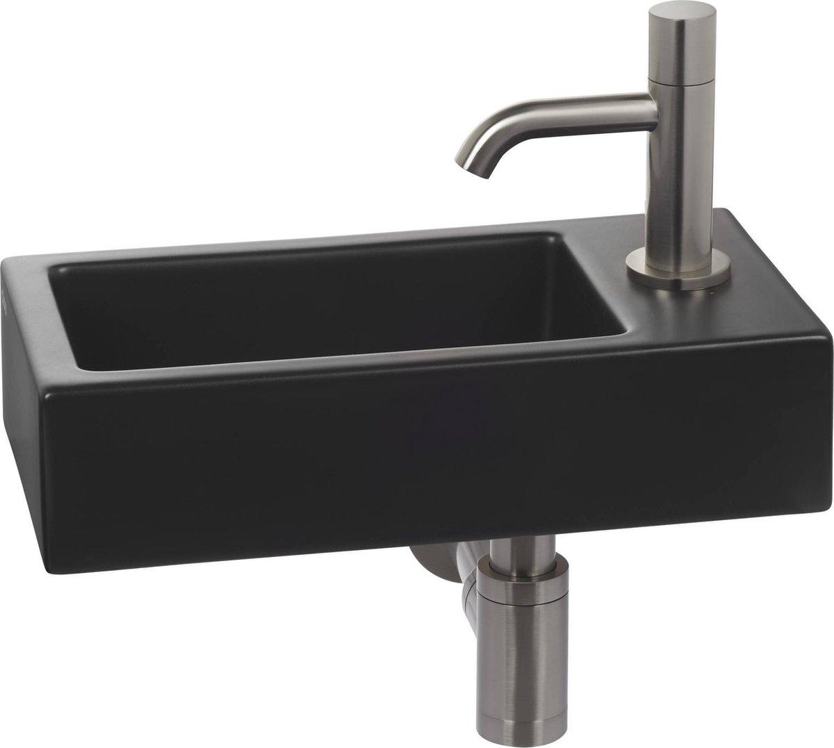 Clou Flush 3 Complete Fonteinset rechts Zwart/RVS