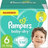 Pampers Baby Dry - Maat 6 - Maandbox - 136 luiers