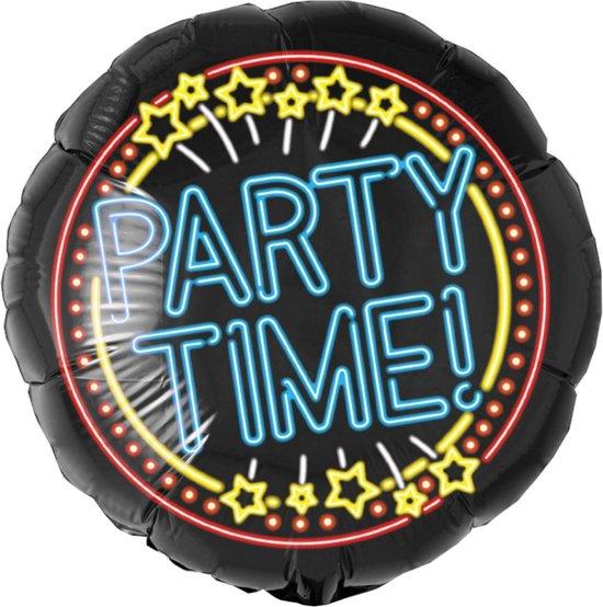 Helium Ballon Party Time Neon 46cm leeg