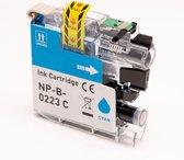 Inkmaster huismerk cartridge compatible voor Brother LC223 XL Cyaan 14 ml DCP-J4120DW MFC-J4420DW MFC-J4425DW MFC-J4620DW MFC-J4625DW MFC-J5320DW MFC-J5620DW MFC-J5625DW MFC-J5720DW LC-223 C