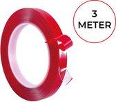 24ME® 3M Extra Sterk Dubbelzijdig Montagetape - Met Bewaar Etui - Transparant - 10mm x 0.8mm x 5M - Binnen en Buiten - Acrylic Tape - Nano Tape - Anti Slip