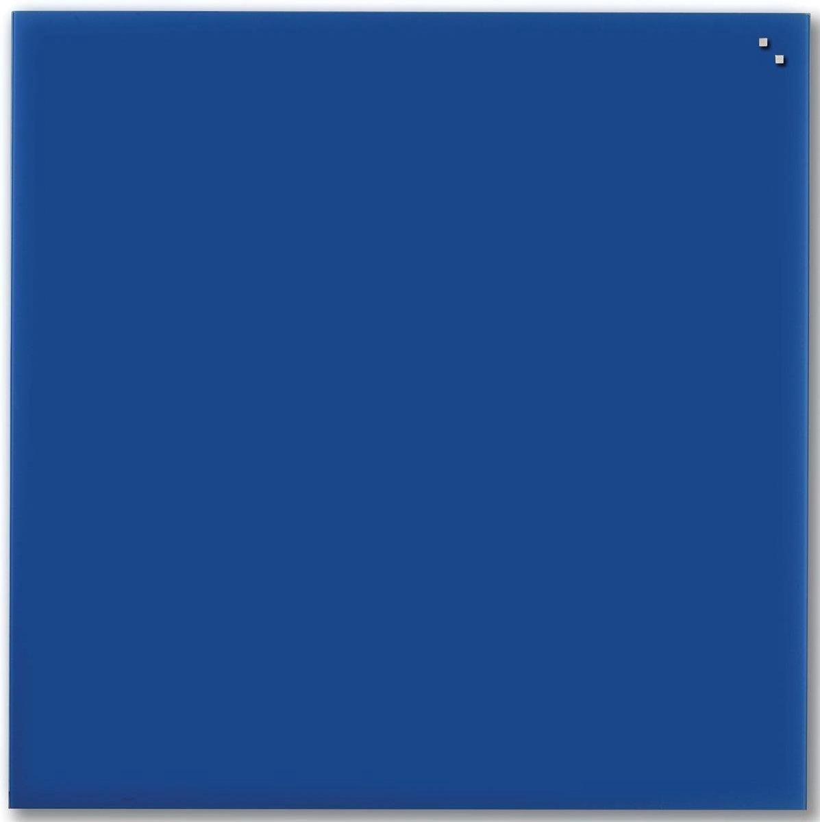 NAGA Glassboard 100x100cm Blauw