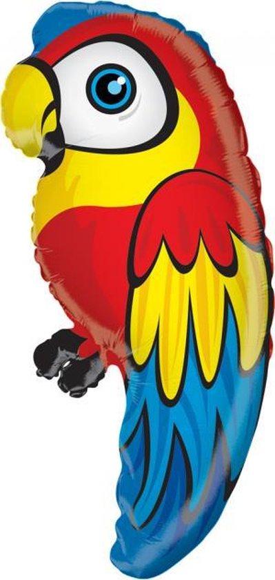 Folie ballon als papegaai 71 cm groot