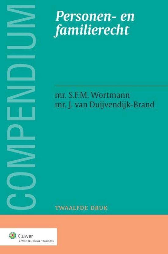 Compendium Van Het Personen- En Familierecht - S.F.M. Wortmann |