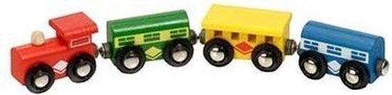 Mentari Houten locomotief met wagons