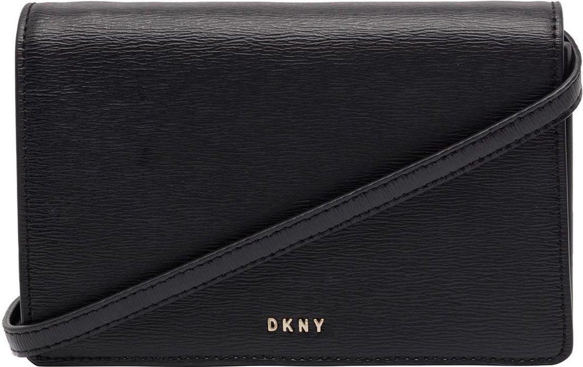 DKNY Bryant Dames Crossbodytas - Inclusief flap - Zwart / Goud