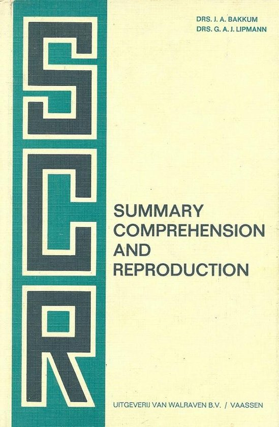 Summary comprehension and reproduction - Bakkum |
