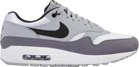 nike air max 1 wit/wolf grey/gunsmoke/zwart