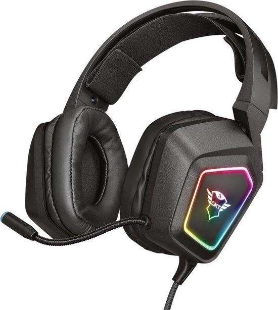 Trust GXT 450 Blizz | 7.1 Gaming Headset | RGB verlichting | PC | Surround sound | USB | Zwart