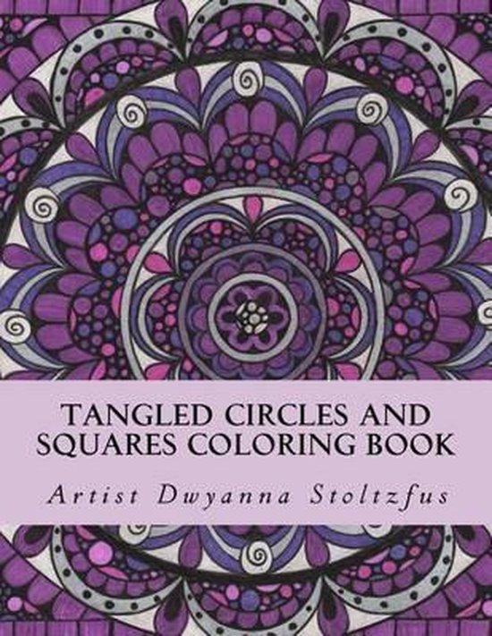 Tangled Circles and Squares Coloring Book