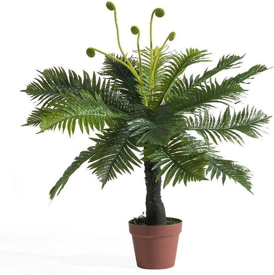 Kunstplant - kunstplanten voor binnen - varen - varenplant in pot , 85 cm hoog
