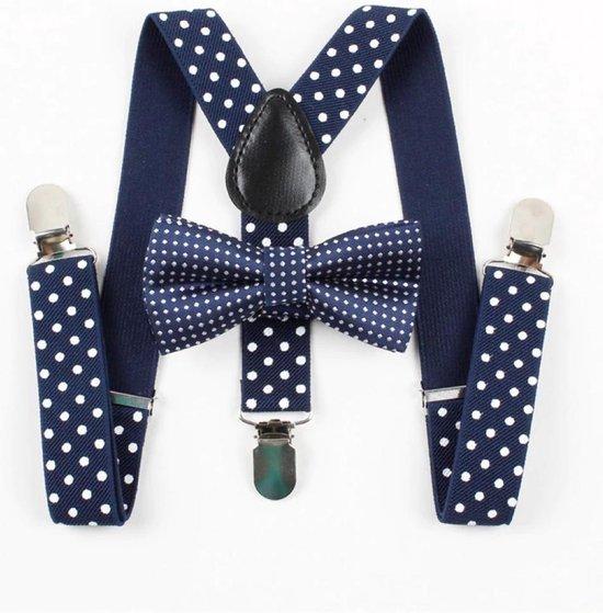 Kinder bretels - Bretels voor baby of kind - Babybretels - Zwart met stip - Stropdas