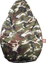 Whoober Peervorm Zitzak Barça outdoor camouflage - Wasbaar - Geschikt voor buiten