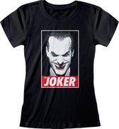 DC Batman - The Joker Fitted T-Shirt Zwart