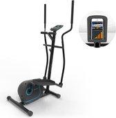 Klarstein Myon Cross - Crosstrainer  - 12kg vliegwielmassa - Magnetisch remsysteem - Tablethouder en Kinomap-app - Zwart