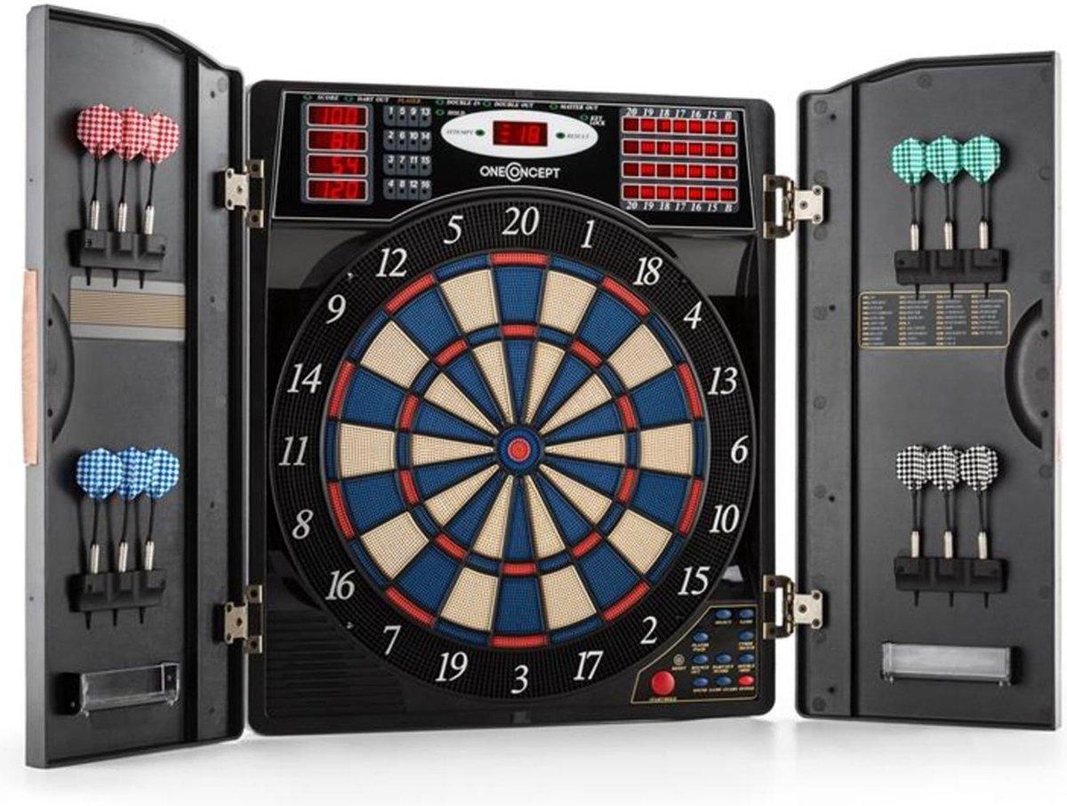 Masterdarter dartbord dartautomaat softtip deuren houtlook