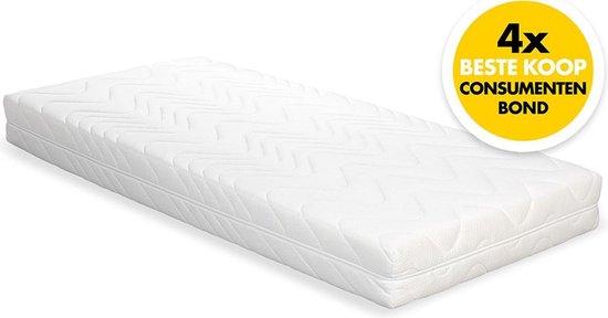 Beter Bed Easy Pocket Pocketvering Matras - 300 veren p/m² - 90x220x19cm - Beter Bed Basic