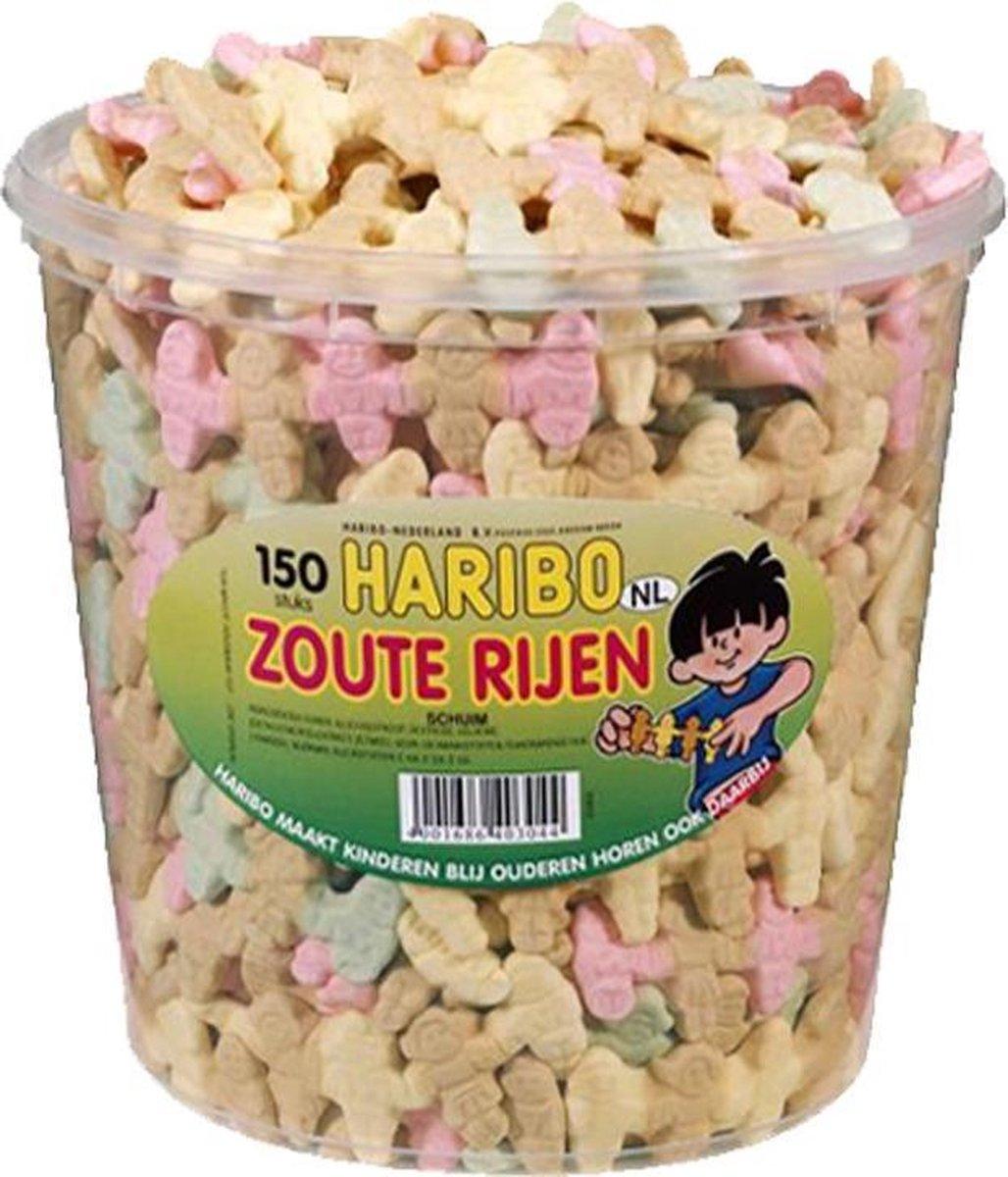 Haribo Zoute Rijen - 150 stuks