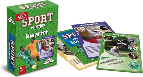 Thumbnail van een extra afbeelding van het spel Spellenbundel - Kwartet - 3 stuks - Paarden Kwartet & Dino Kwartet & Sport Weetjes Kwartet