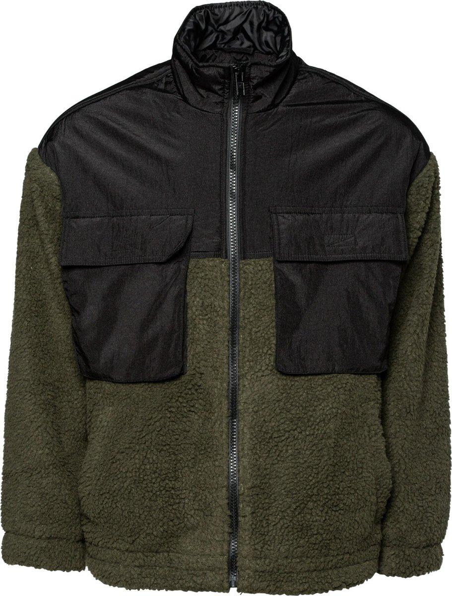 Mennace fleece jas Zwart-L